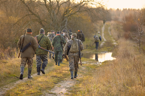 Hunting with a group